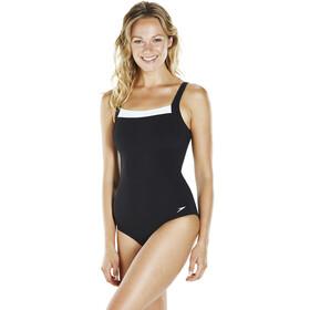 speedo W's Contour Renew 1 Piece Swimsuit Black/White